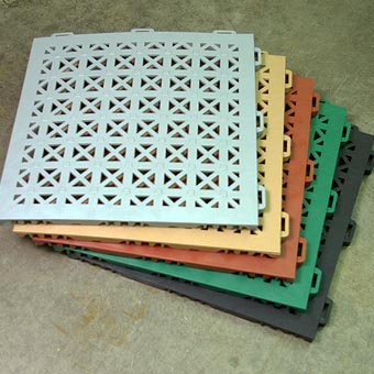 Non Slip Flooring Aergo Flow Perforated Anti Slip Mat