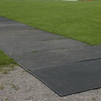 Turf Lawn Protection Mats Temporary Roadway Nutek Flooring