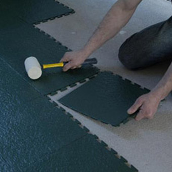 Slate Top Tile Interlocking Snap Together Modular Flooring