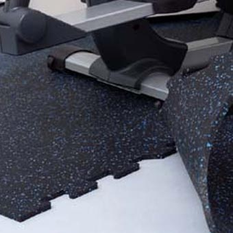 Rubber Puzzle Mat Flooring For Home Commercial Use