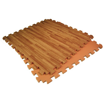 Mats Wood Grain Design In A Reversible Foam Mat Nutek Flooring